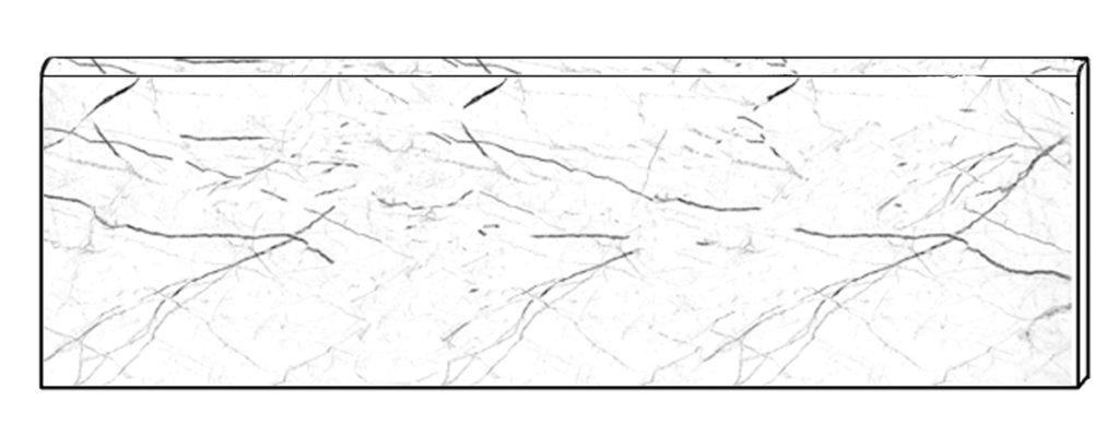 Battiscopa in digitale a freddo, ottenuto con tecnica infrarossi