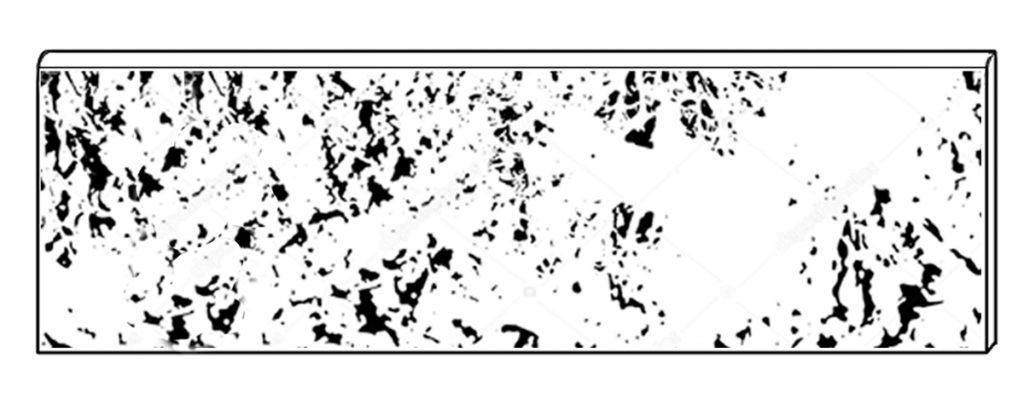 Battiscopa smaltato tradizionale